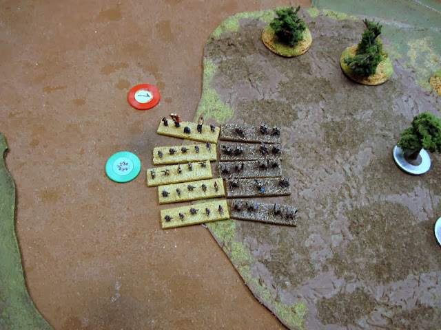The right flank doesn't fare so well...