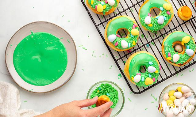 Decorating donuts
