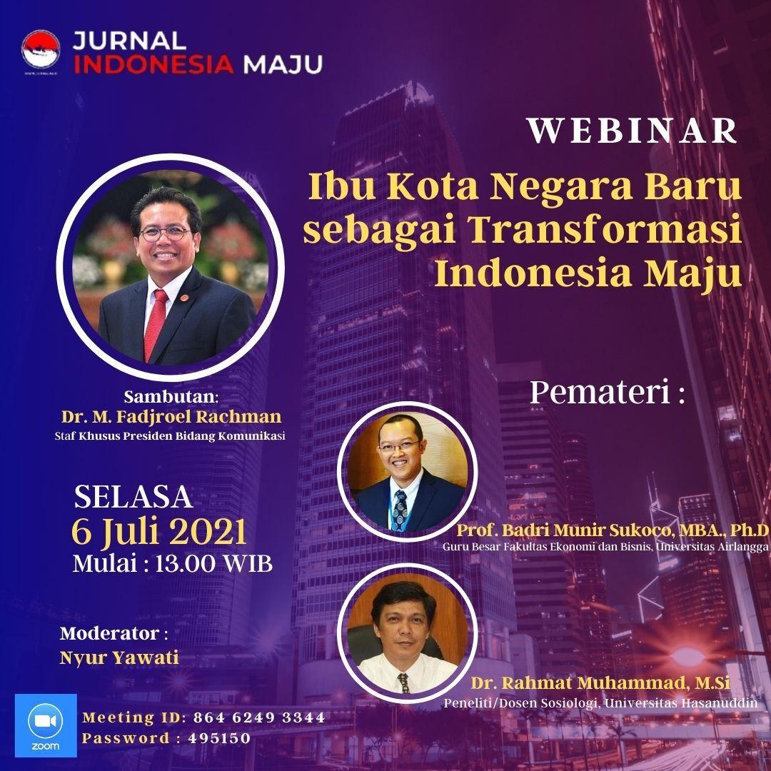 Rakyat Sedang Berjuang Hadapi Maut Covid-19, Jubir Jokowi Malah Adakan Webinar Bahas Ibu Kota Negara Baru