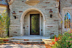 Blended Wall Stone and Indiana Header