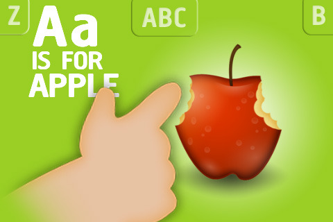 Interactive Alphabet A is for Apple