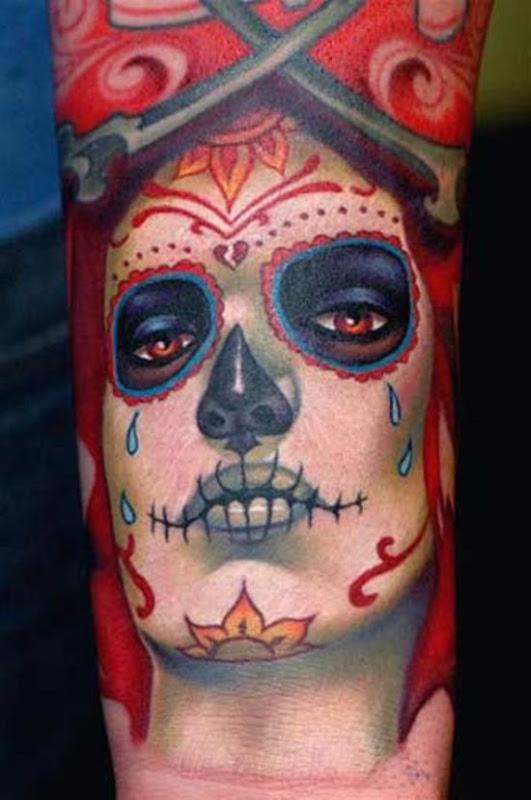 Woman-sugar-skull-tattoo