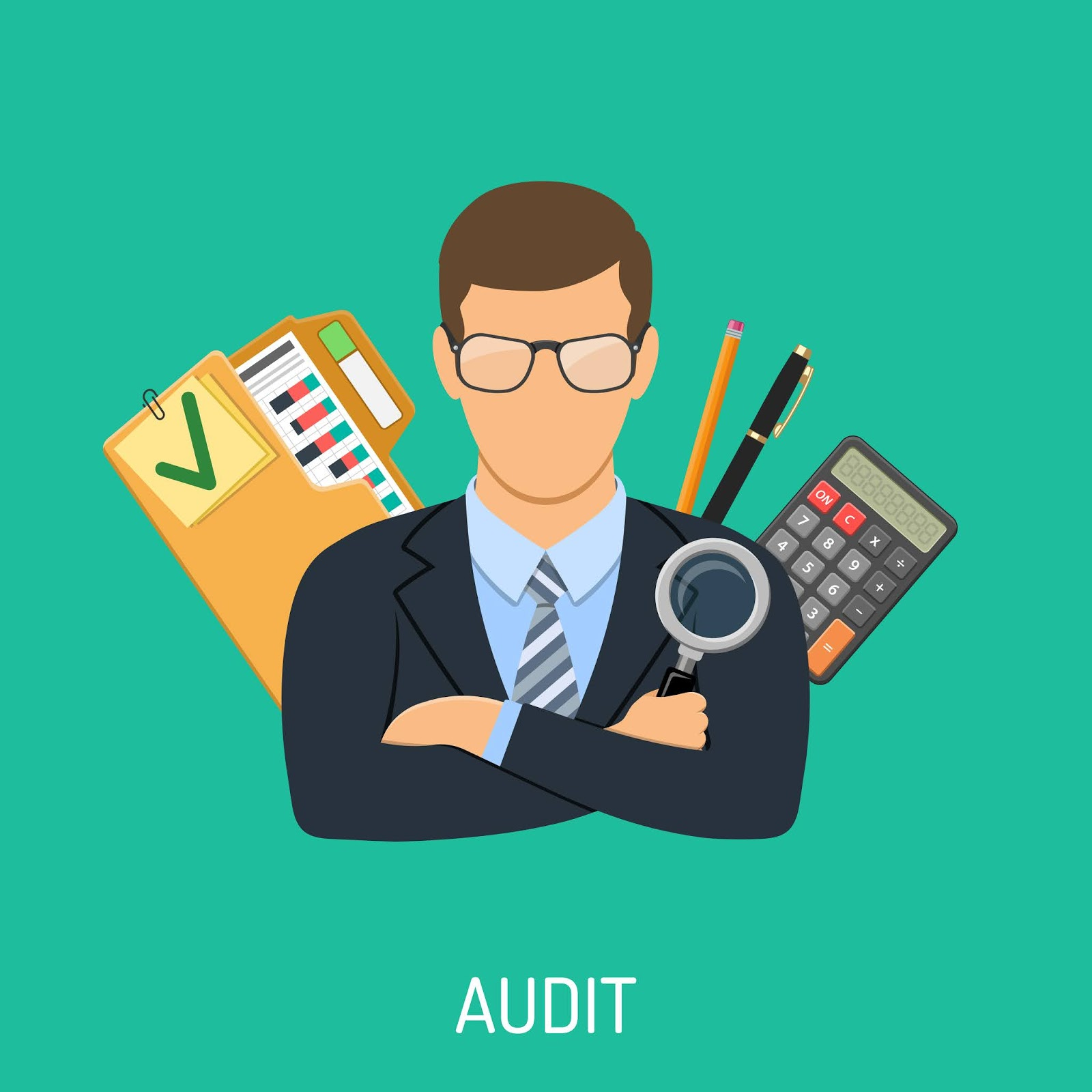 Auditor Accounting Concept Free Download Vector CDR, AI, EPS and PNG Formats