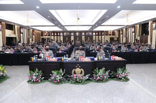 Gelar Apel Kasatwil, Kapolri Berikan Arahan Tegas Keseluruh Jajaran