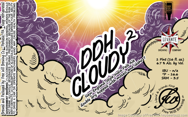 Free Will & Levante Brewing Collaborate On DDH Cloudy 2