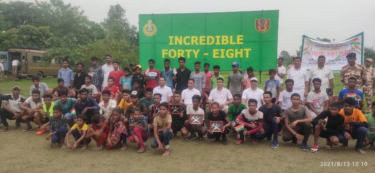 05 किलोमीटर की रेस का शुभारंभ टी एस मंगंग सेनानी 48 में वाहिनी द्वारा हरी झंडी दिखाकर किया गया