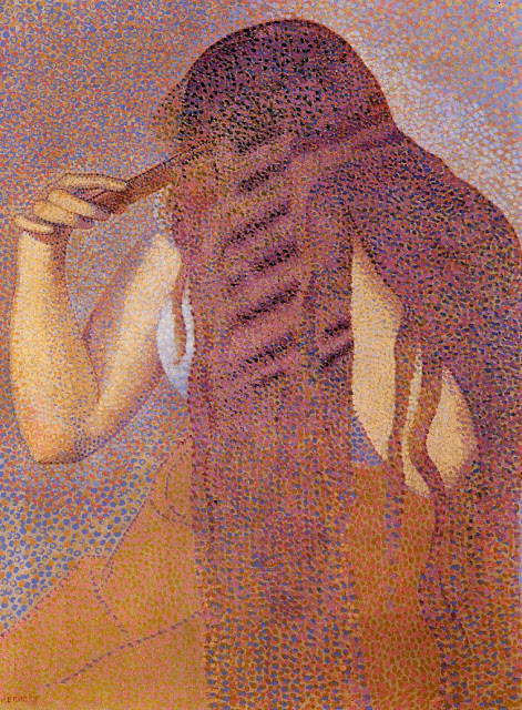 Henri-Edmond Cross - Woman Combing Her Hair