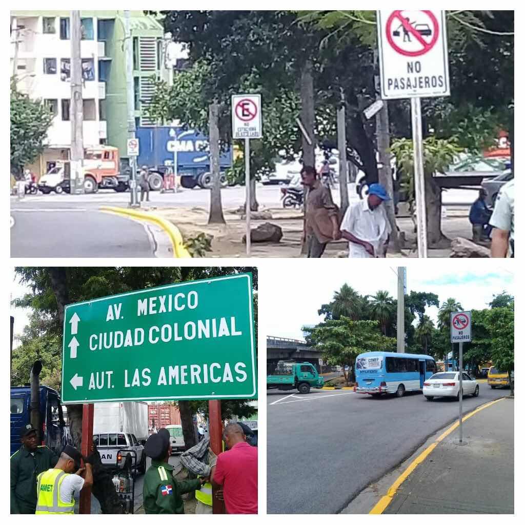 DIGESETT inicia jornada de señalización y reordenamiento vial en el entorno puente Duarte y Juan Bosch.