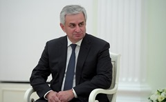 President of Abkhazia Raul Khadjimba in the Kremlin