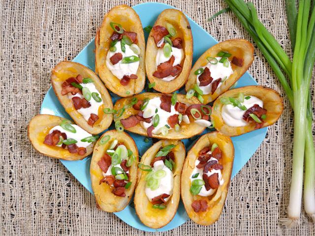oven baked potato skins