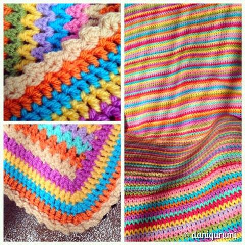 Danigurumi V Stitch Deken Ripple Sjaal