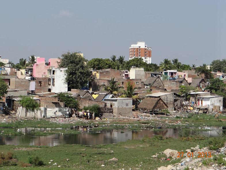 Encroachments in Janakiraman colony, Poonamalee High road, Arumbakkam