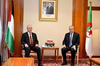 Sellal s'entretient avec le Premier ministre de l'Etat de Palestine