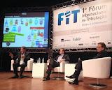 Participação no 1º Fórum Internacional da Tributação, em painel junto com o Paulo Rabello de Castro, em 21 de agosto de 2014.