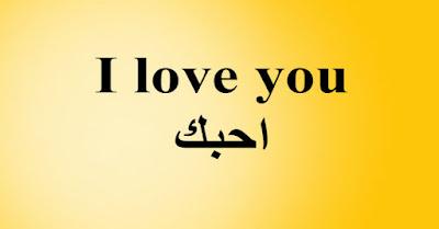 I love you احبك