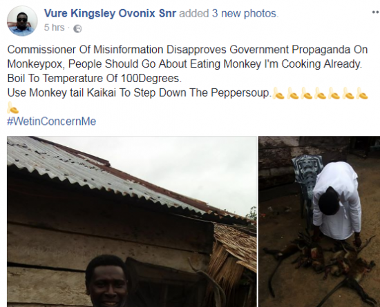 Nigerian Man Prepares Monkey Pepper Soup (Photos)