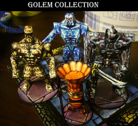 Fantasy Creatures Wood Ice Golem Papercraft