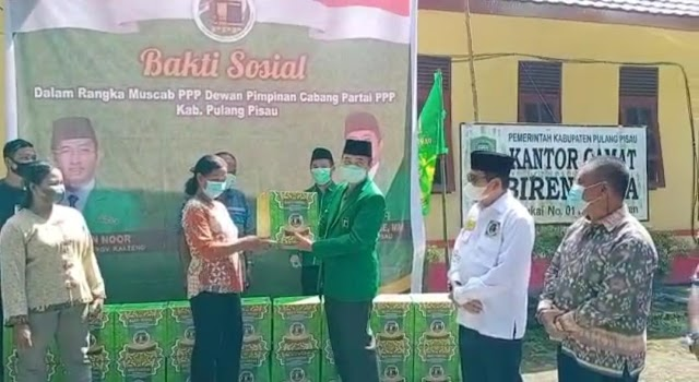 Rangkaian Muscab, PPP Pulang Pisau Salurkan 80 Paket Sembako ke 8 Kecamatan