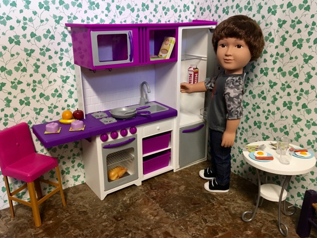 Pennilesscaucasianrubbish American Doll Adventures New Walmart My Life As Doll 18inch Doll Kitchen Photo Review
