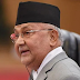 Prime Minister Oli giving a press conference