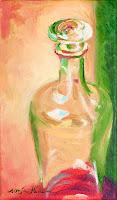 """Glas-Dekanter"" 27x16cm Öl auf Leinwand"