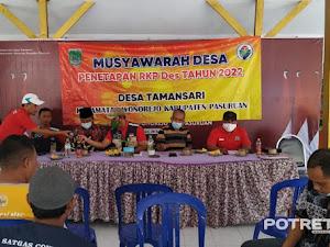 Pemdes Tamansari Wonorejo, Gelar Musyawarah Penetapan RKP 2022