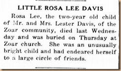 Little Rose Lee Davis