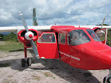 Our plane that landed us on a jungle landing strip