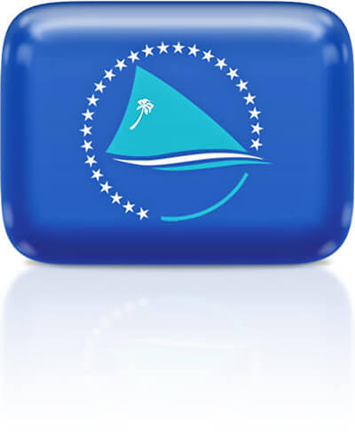 Pacific Community flag clipart rectangular