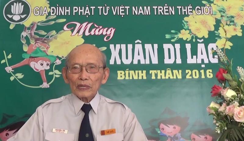 Huynh Trưởng Trưởng Ban Hướng Dẫn GĐPTVN Trên Thế Giới chúc tết Bính Thân – 2016