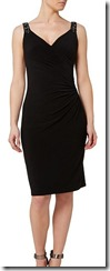 Lauren Ralph Lauren beaded strap wrap jersey dress