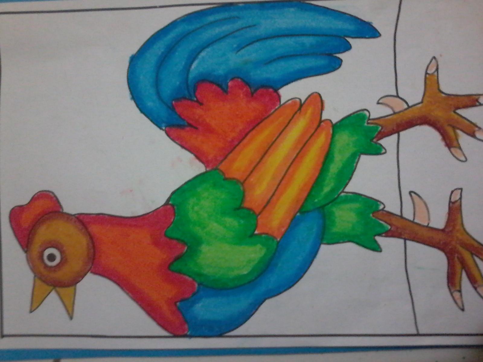 Mewarnai Ayam Jago Kumpulan Soal Pelajaran 3