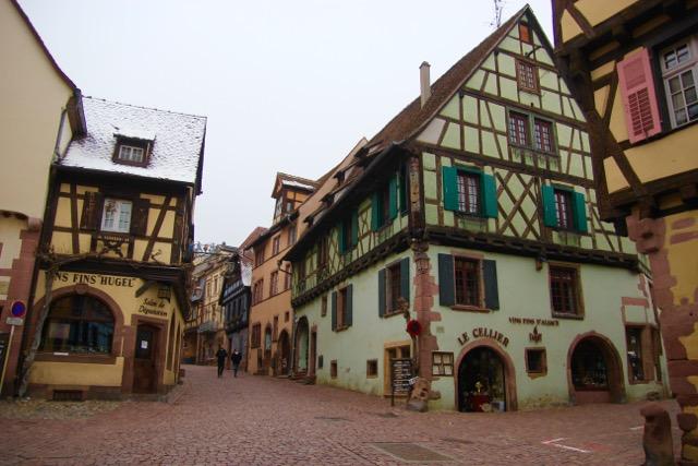 The main street of Riquewihr - bloody pedestrians!