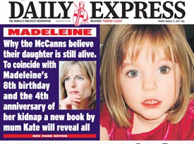 Spudgun's Spoutings:  Kate's Book Madeleine: No.1 in Bestseller FICTION list  Kate-mccann-book