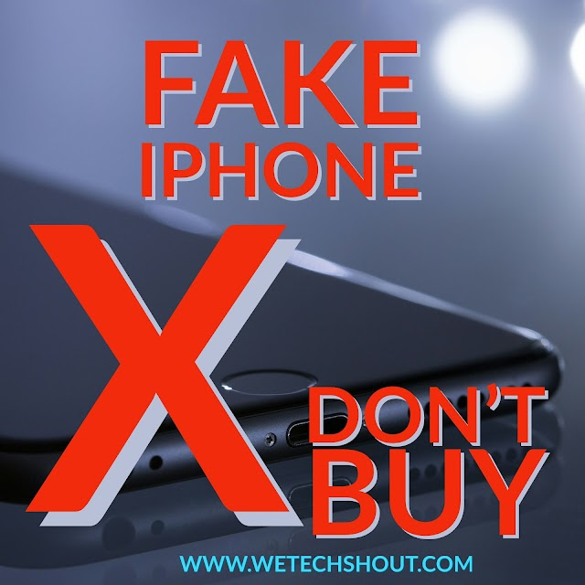 HOW TO RECOGNISE A FAKE IPHONE