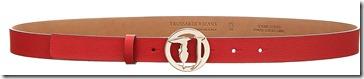 Trussardi Jeans Cintura Pelle Logo