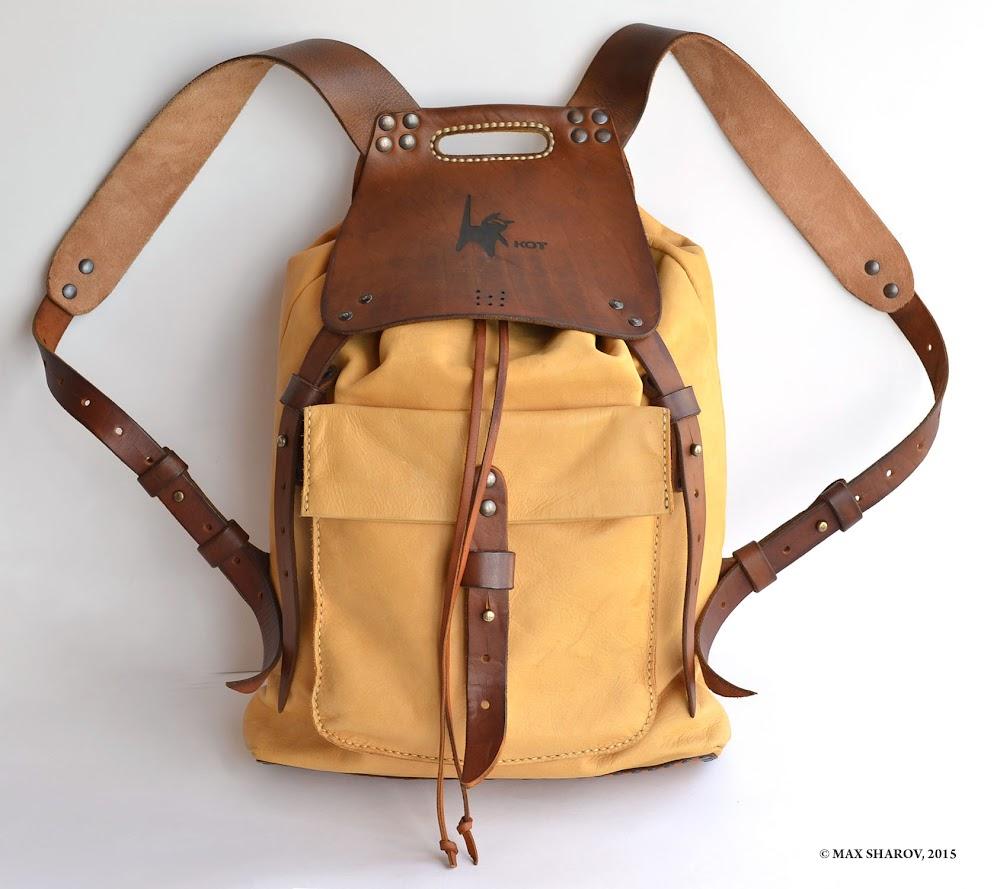 740751481f51 рюкзак кожаный ручной работы. персонализация art 151 Kot