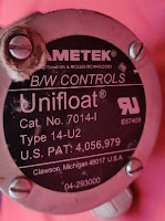 For sale: AMETEK  Unifloat  Type 14 - U2 Cat . No. 7014-I U.S. PAT . 4,056,979 B / W CONTROLS qty 2pcs (new) Email idealdieselsn@hotmail.com/idealdieselsn@gmail.com