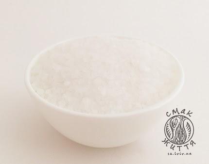 Сіль морська, середнього помолу