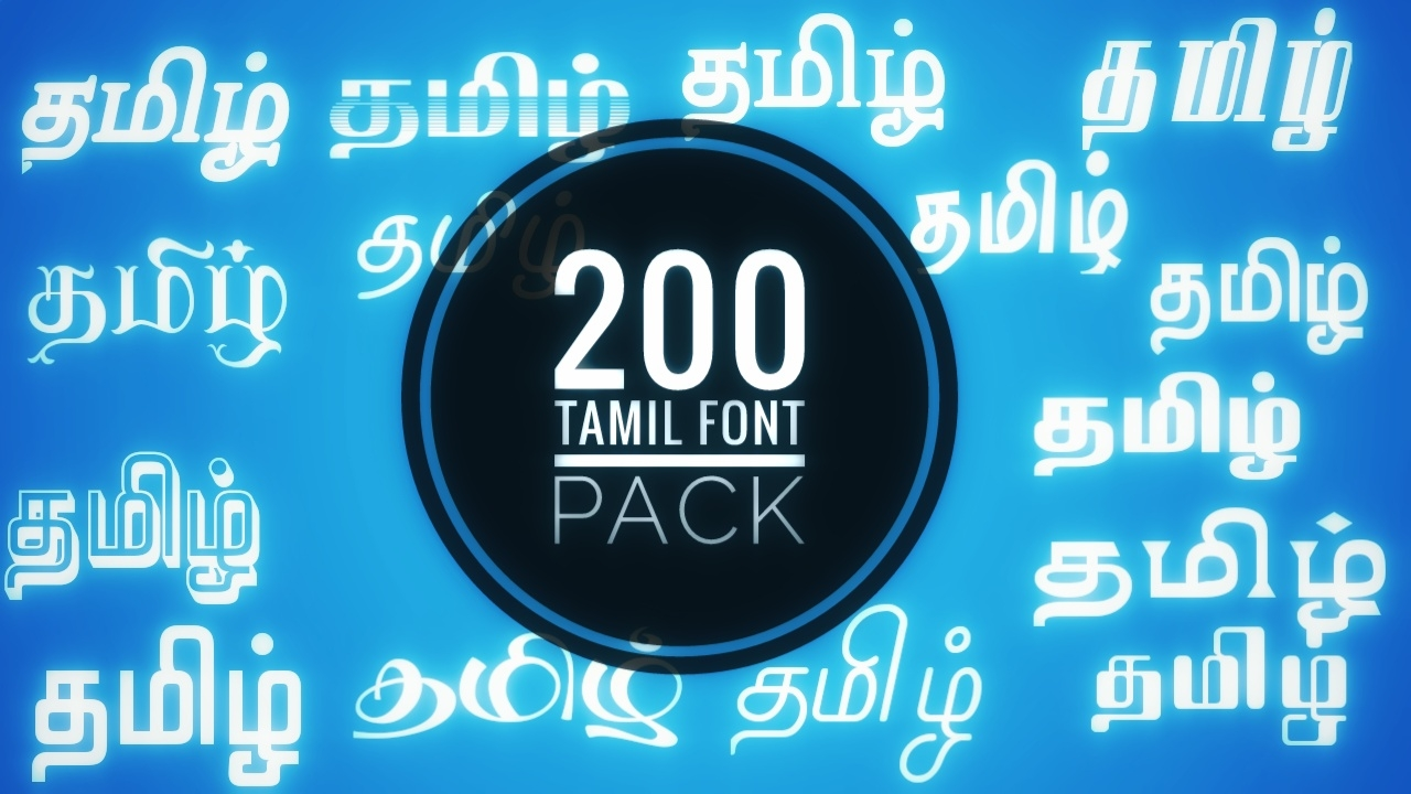 Download Tamil Data Tech: Tamil Font Pack with 200 Fonts