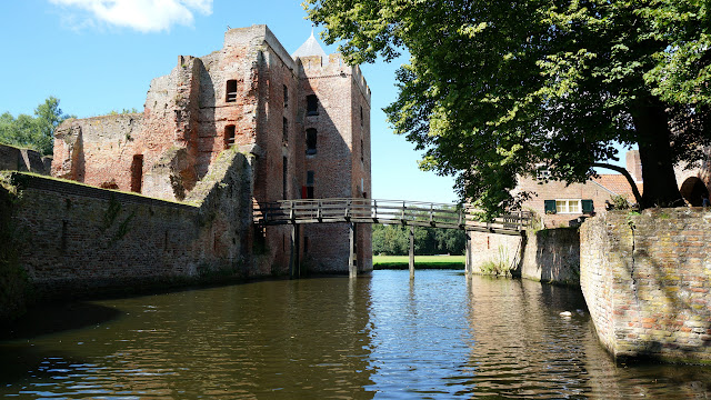ancient Castle Brederode in Velsen which was almost completely destroyed in Velsen, Noord Holland, Netherlands