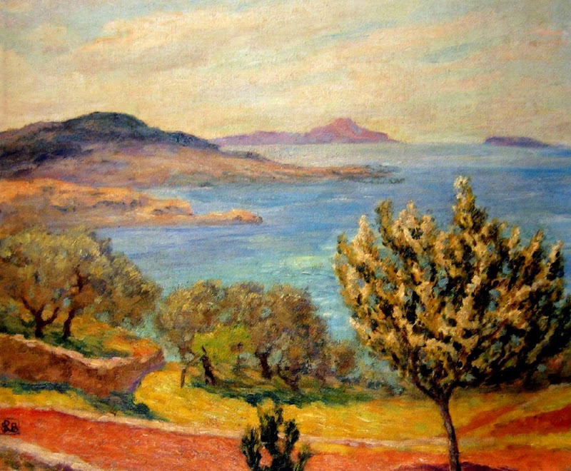 Rupert Bunny - Almond Trees Flowering - Coast Near Bandol, South of France