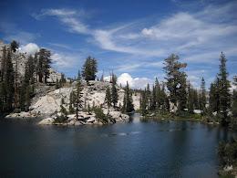 Islands at Chittenden Lake.