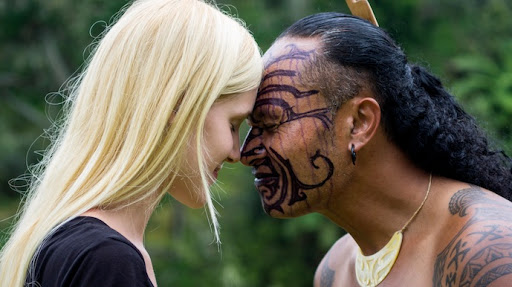 Traditional greeting called the Hongi