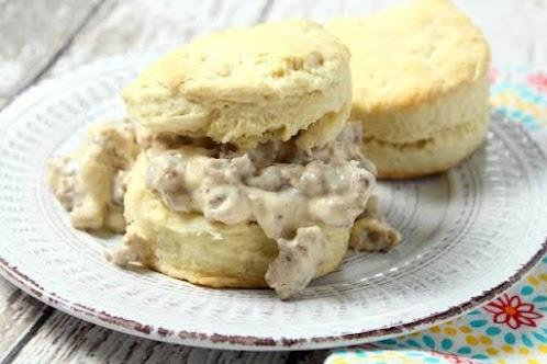 Buttermilk Biscuits n Sausage Gravy