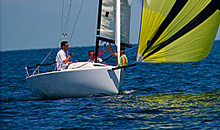 J/70 one-design sailboat- sailing offshore