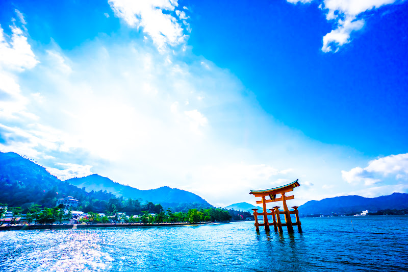Miyajima Mikasa-no-hama Itsukushima Shrine O-torii Gate (the great Torii)1
