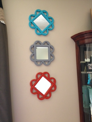 Spray Painted Mirrors from Family Dollar for Instant Wow
