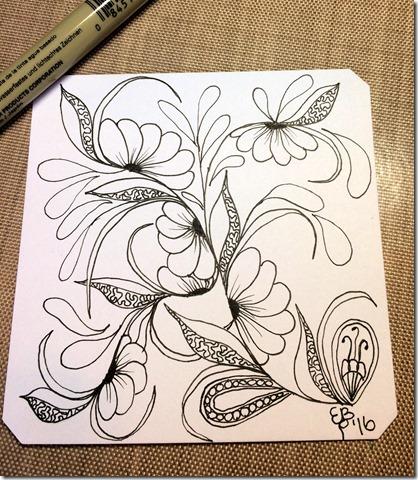 FlowerVinesLineArt