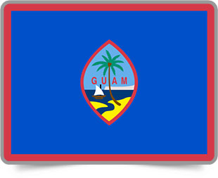 Guamanian framed flag icons with box shadow
